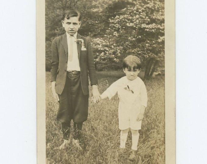 Vintage Snapshot Photo: Brothers, c1920s (76585)