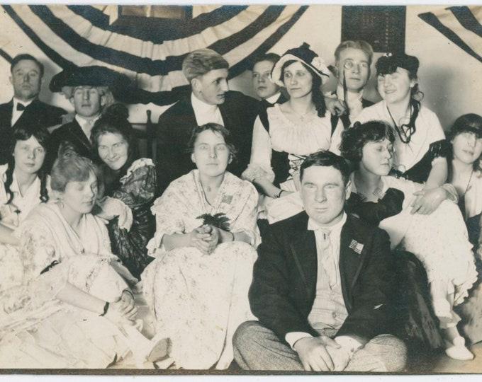 Vintage Snapshot Photo: Dramatic Group [91767]