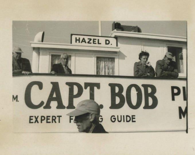 Capt. Bob, Fishing Boat: Vintage Snapshot Photo [81643]