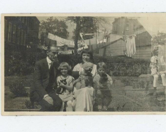 Double Exposure, 1920s: Vintage Snapshot Photo [81644]
