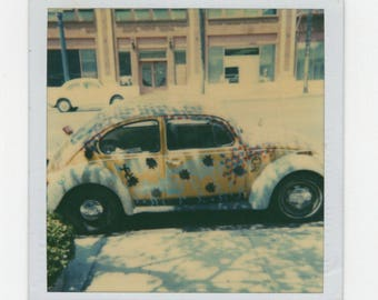 Vintage Polaroid SX-70 Snapshot Photo: Volkswagen VW Bug Beetle [81647]