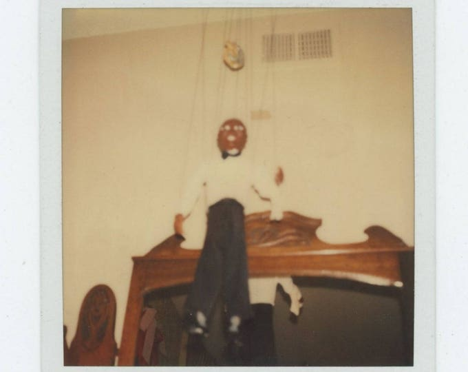 Hanging Puppet: Vintage Polaroid SX-70 Snapshot Photo [81646]