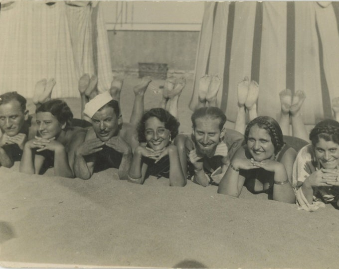 Vintage Snapshot Photo: At the Beach, Italy, 1930s [89721]