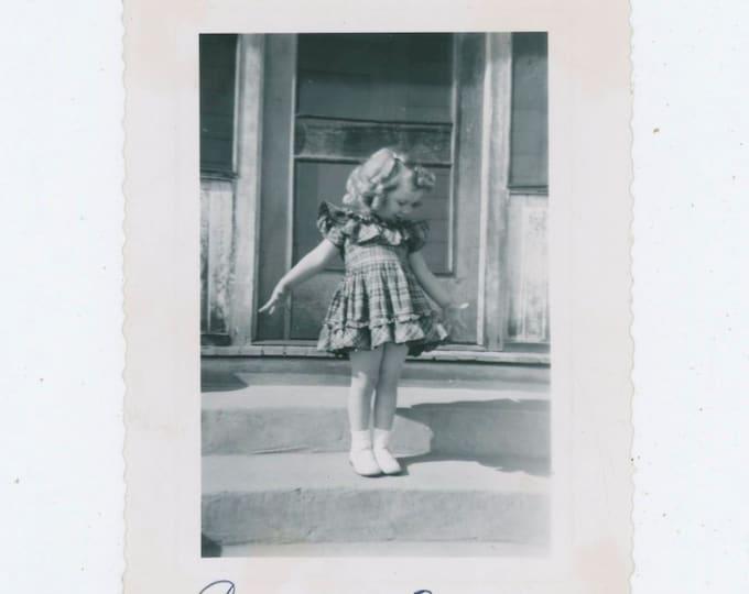 Vintage Snapshot Photo: Carla, 3 Years [811738]