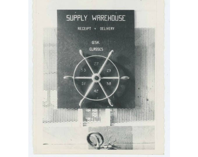 "Vintage Snapshot Photo: ""Supply Warehouse"" Abstract (75582)"