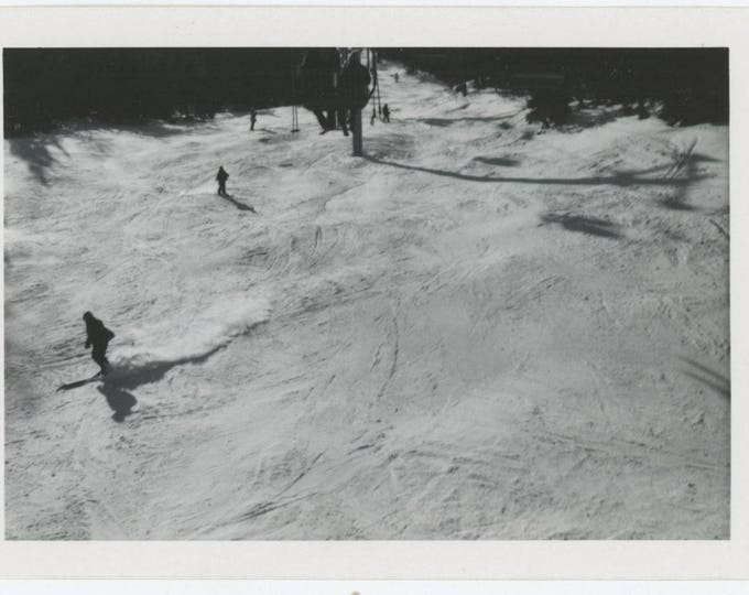Vintage Snapshot Photo: Ski-Slope (81635)