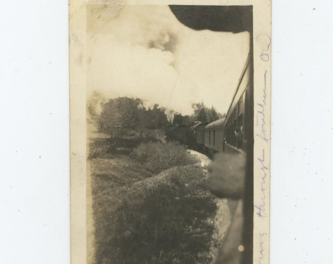 "Vintage Snapshot Photo: ""Going through southern Ohio"" 1918 [89720]"