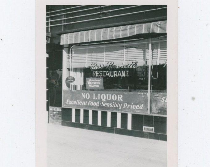 "Vintage Snapshot Photo: ""No Liquor"" Denver, 1952 [91763]"