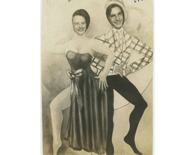 "Arcade Prop Cut-Out: ""Doddy & Rudy, 1945"" Vintage Photo (77591)"