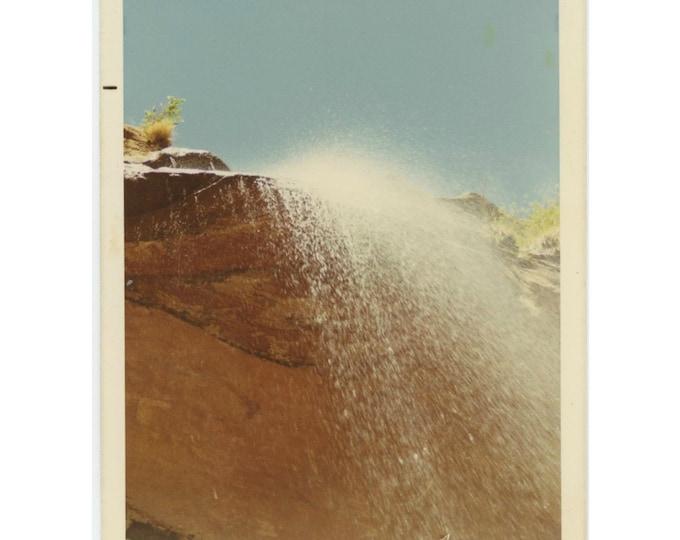 Vintage Snapshot Photo: Waterfall, 1971 [85674]