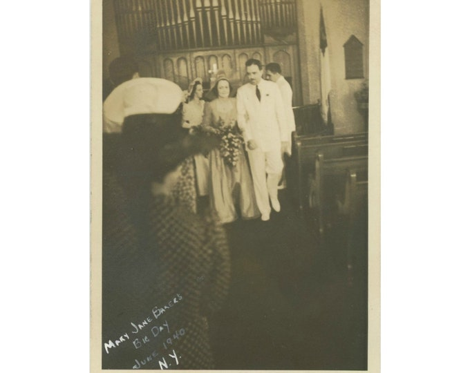 Mary Jane Baker's Big Day, New York, 1940: Vintage Snapshot Photo [85679]