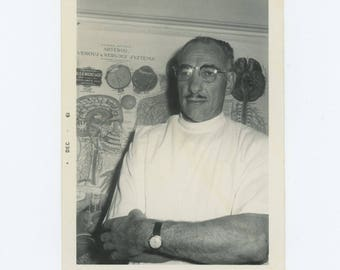 Vintage Snapshot Photo: Doctor, 1961 (75575)