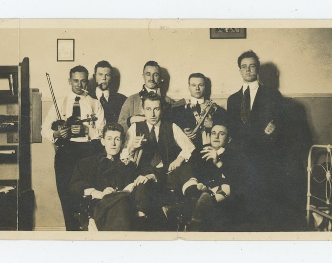 Vintage Snapshot Photo: Boys in the Band [86683]