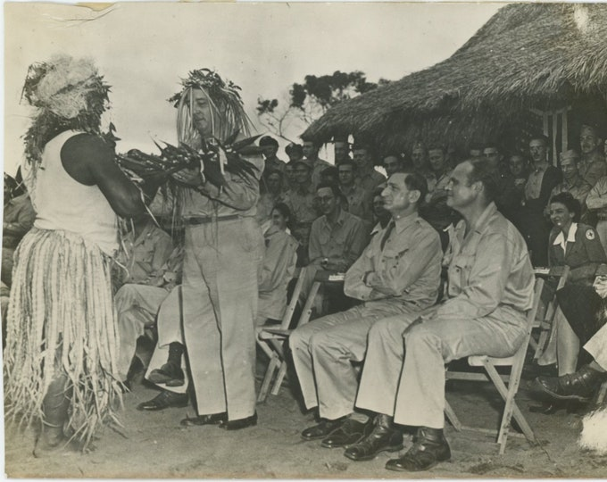 Vintage Snapshot Photo [5x7]: New Caledonia..Native Celebration [86691]