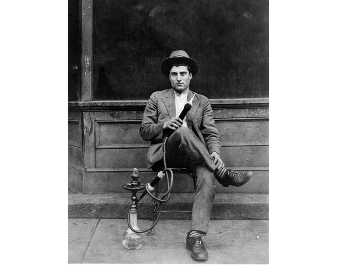 Hookah/Shisha Smoker, Turkey c1930s. Restored and Enlarged Archival Photo Reprint from the RetroGraphic Gallery Collection.