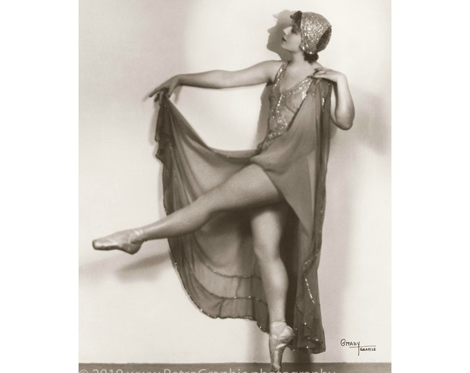 Ballet Dancer #2 by Grady Studio, Seattle, c1920s. Restored and Enlarged Archival Photo Reprint from the RetroGraphic Gallery Collection.