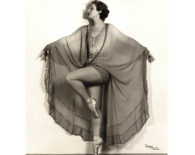 Ballet Dancer by Grady Studio, Seattle, c1920s. Restored and Enlarged Archival Photo Reprint from the RetroGraphic Gallery Collection.
