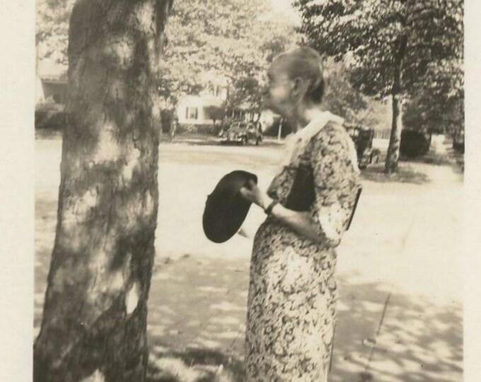 Vintage Snapshot Photo: Elderly Woman, c1930s (75574)