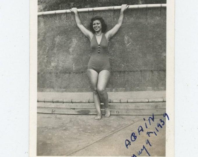 """Vintage Snapshot Photo: """"Again, May 9. 1939"""" [86683]"""