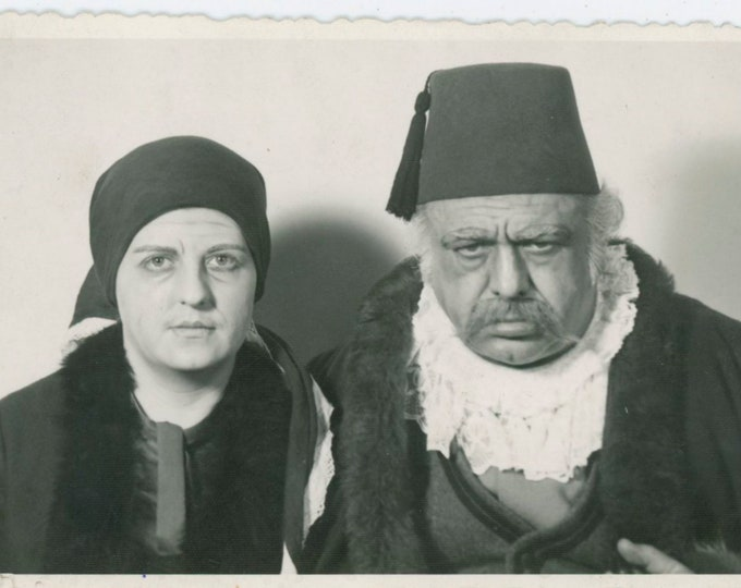 Vintage Portrait Photo: Ottoman Turkish Couple, c1930s [811739]