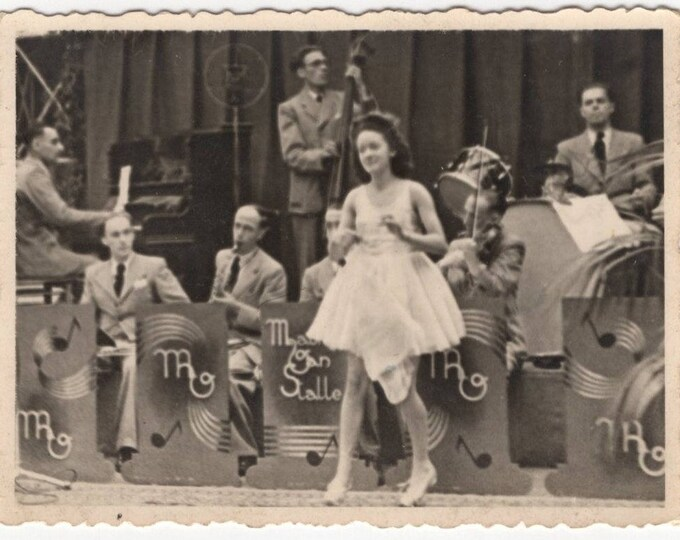Vintage Snapshot Photo: Big Band, 1942 [81647]