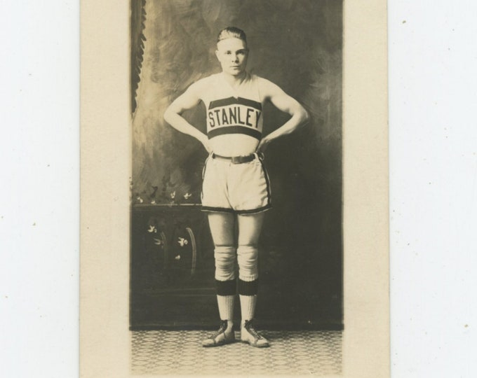 Vintage Portrait Photo: Stanley Basketball Player, c1910s [89724]