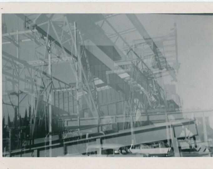 Double Exposure Vintage Snapshot Photo, c1950s [91767]