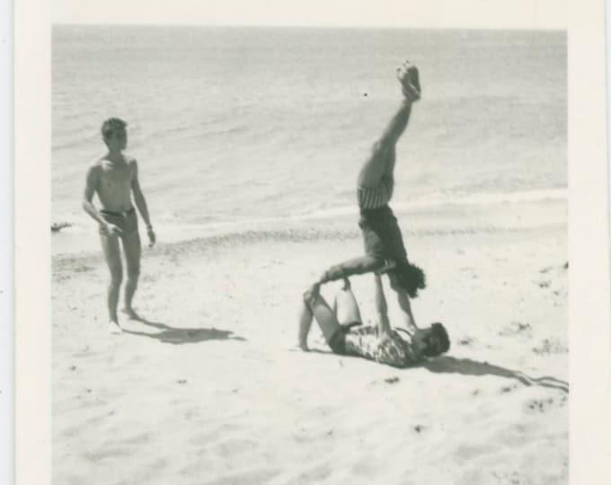 Vintage Snapshot Photo: Beach Acrobats [811750]
