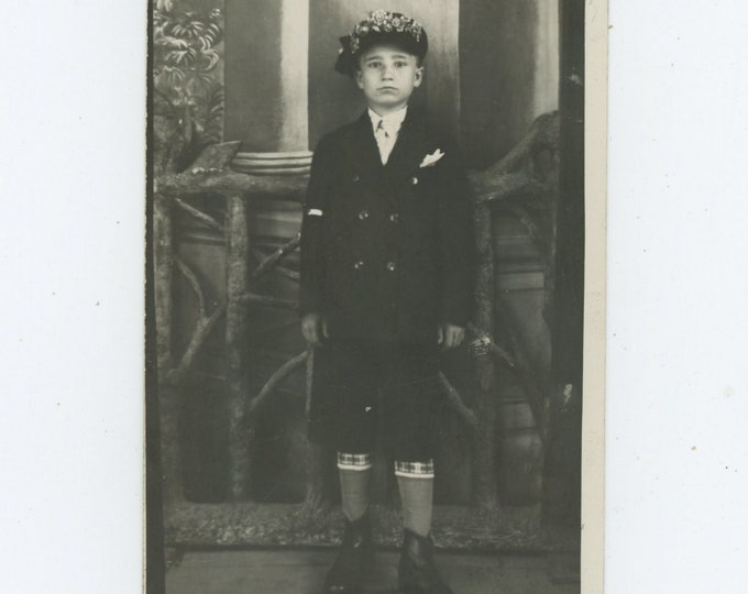 Vintage Portrait Photo: Young Boy, Turkey, 1930s [89723]