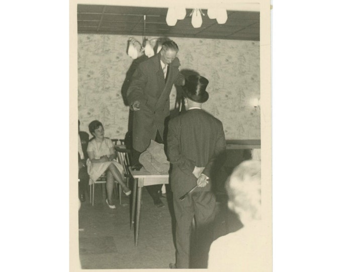 Vintage Snapshot Photo: Table Dance? [86680]