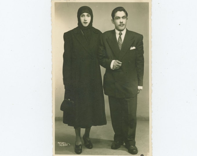 Vintage Portrait Photo: Turkish Couple, 1930s [86688]