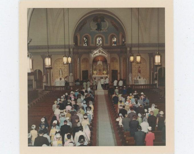 1968 Kodacolor Print Vintage Snapshot Photo: Church Wedding [812761]