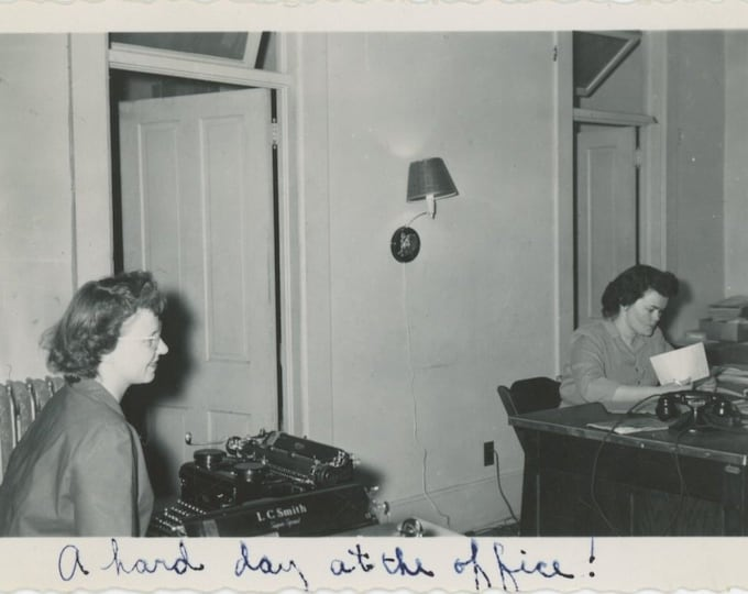 A Hard Day at the Office!: Vintage Snapshot, c1940s [89723]