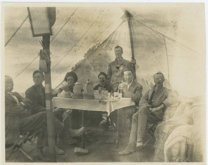 Vintage Snapshot Photo: Glamping, c1910s (712626)