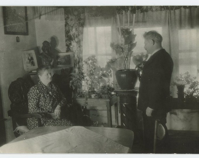 Vintage Snapshot Photo: Wilhelmina & Phillip, c1930s (71543)