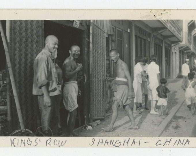 Shop on on King's Row, Shanghai, China: Vintage Snapshot Photo (88709)