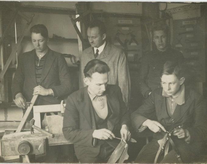 Vintage Portrait Photo: Trade School, Latvia, 1930s [86696]