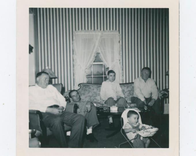 Vintage Snapshot Photo: Watching T.V.? 1952 [91766]