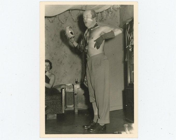 Vintage Snapshot Photo: Surreal Costume (88712)