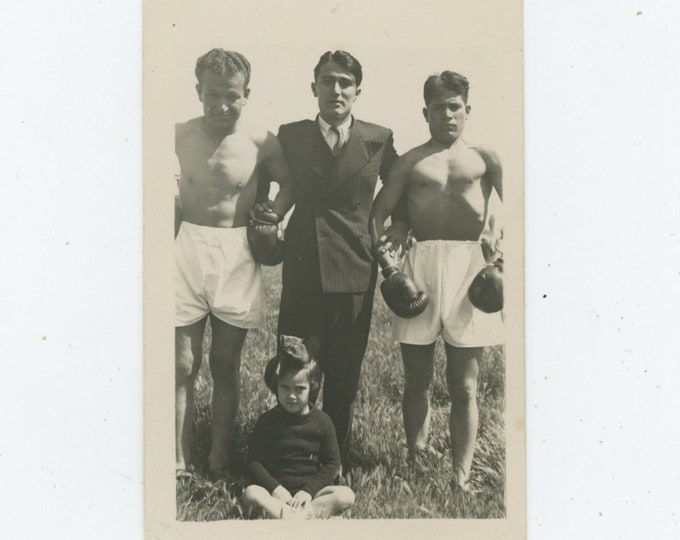 Vintage Snapshot Photo: Boxers, Turkey, 1930s (88718)