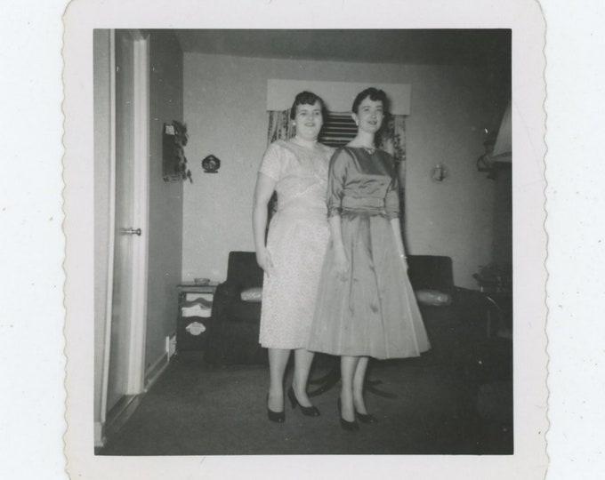 Vintage Snapshot Photo: Two Women, 1950s [86693]