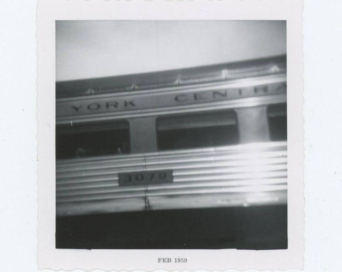 New York Central Railroad Car, 1959: Vintage Snapshot Photo [83655]