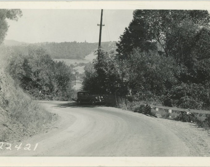 Vintage Snapshot Photo: Bend in the Road [84669]