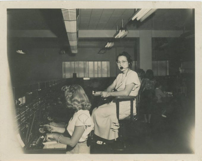 Telephone Exchange, c1940s-50s: Vintage Snapshot Photo [82653]