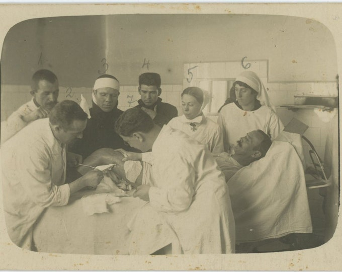 Surgery, Bulgaria, c1920s: Vintage Snapshot Photo [88719]