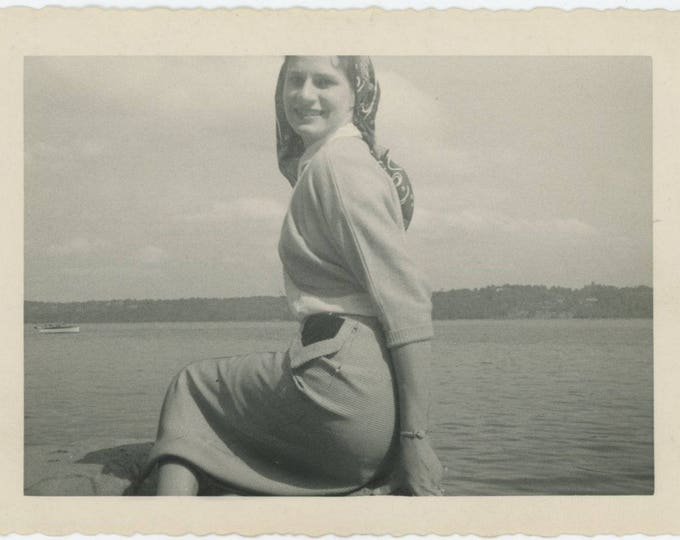 Vintage Snapshot Photo: Mermaid (81636)