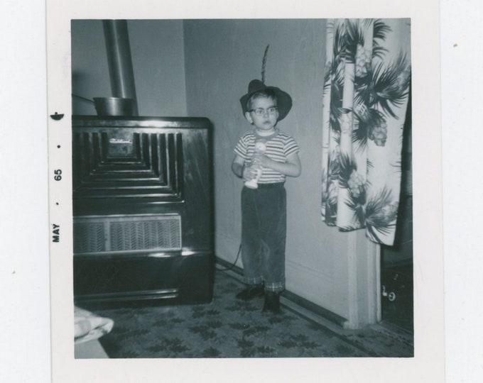 "Vintage Snapshot Photo: ""Mike & Donald Duck, 1965"" [811742]"