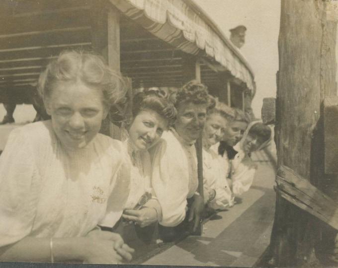 Vintage Snapshot Photo: Boat Trip, c1910s (81636)