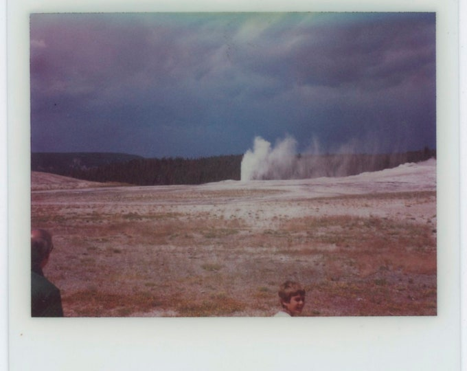 Vintage Kodak Instant Snapshot Photo: Eruption [91766]