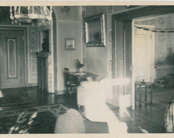 "Vintage Snapshot Photo: Ghostly Phenomenon? ""The Castle"" [812754]"